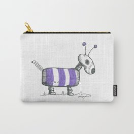 Dogbot in His Purple Striped Bug Costume Carry-All Pouch