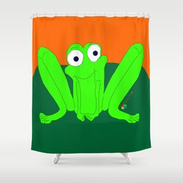 Shy Froggy Shower Curtain
