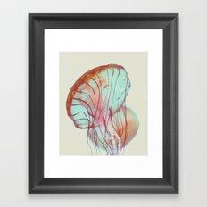 Pink Jellyfish Framed Art Print