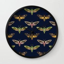 Hawk Moths I Wall Clock