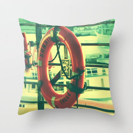 I'd rather drown (my troubles) Throw Pillow
