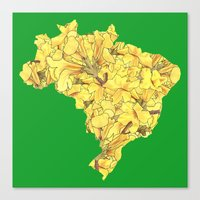 brazil Canvas Prints featuring Brazil by Ursula Rodgers