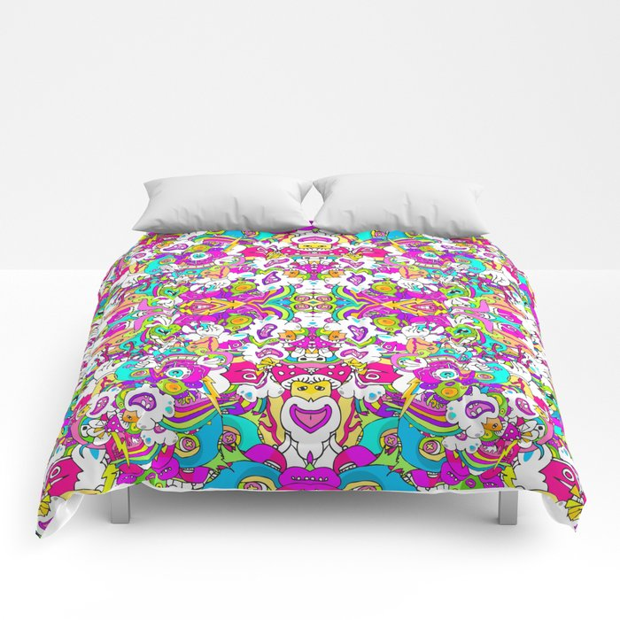 Lightning Hits Rainbow Comforters
