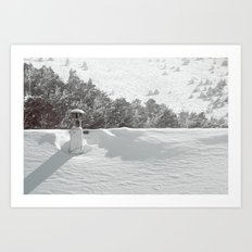 it's winter Art Print