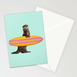 SURFING OTTER Stationery Cards