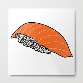 Salmon Nigiri Metal Print