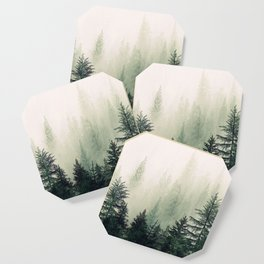 Foggy Pine Trees Coaster