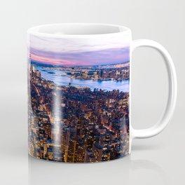 New York pink sunset Coffee Mug
