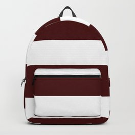Wide Horizontal Stripes - White and Bulgarian Rose Red Backpack