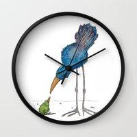 teacher Wall Clocks featuring The Teacher by Jennifer Geldard