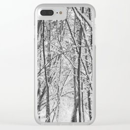 Woodland snow Clear iPhone Case