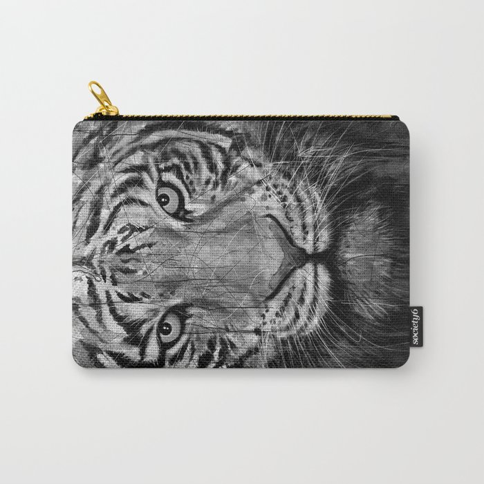 Tiger Black & White Carry-All Pouch