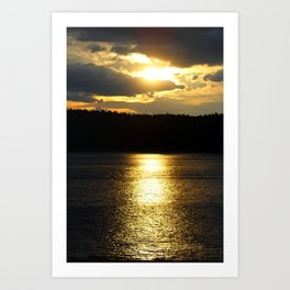 Sunset at Concord's Walden Pond 6 Art Print