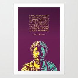 Marcus Aurelius Inspirational Stoic Quote: The Power to Revoke Art Print