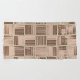 Spirit Desert Stripe - Red Beach Towel