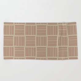Spirit Desert Stripe - Red Beach Towel