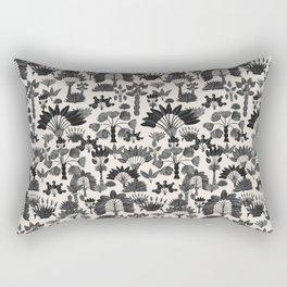 Exotic Garden Gray Rectangular Pillow