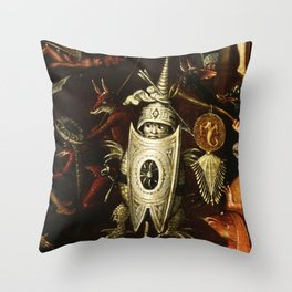 The little knight by Heironymus Bosch Throw Pillow