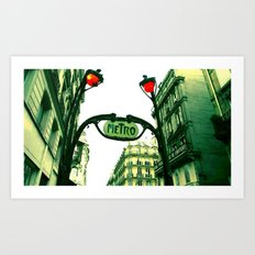 Metro in Paris Art Print