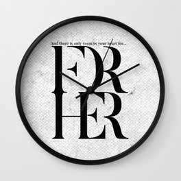 For Her 2 Wall Clock