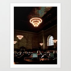 NYC Library Art Print