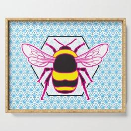 Geometric Bumblebee Serving Tray