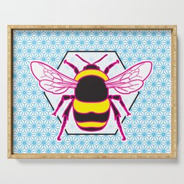 Geometric Bumblebee Serving Tray