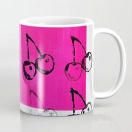 20 Cherries Print Pink Coffee Mug