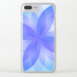 Abstract Lotus Flower G303 Clear iPhone Case