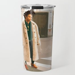 Luka Sabbat Fashion Illustration // Mens Fashion Illustration Travel Mug