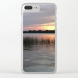 Grass Island Sunset Clear iPhone Case