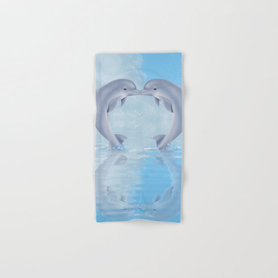 Kissing dolphins Hand & Bath Towel