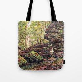 Triangle Rocks Tote Bag