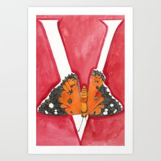 V is for Vanessa Tameamea Art Print