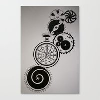 clockwork Canvas Prints featuring ClockWork by Kelly N. Gin