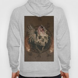 Awesome creepy skull with rat Hoody