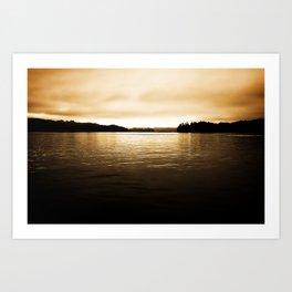 Umpqua River Sunrise Art Print