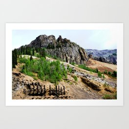 Sunnyside Mill and Rocky Crags Towering Overhead Art Print