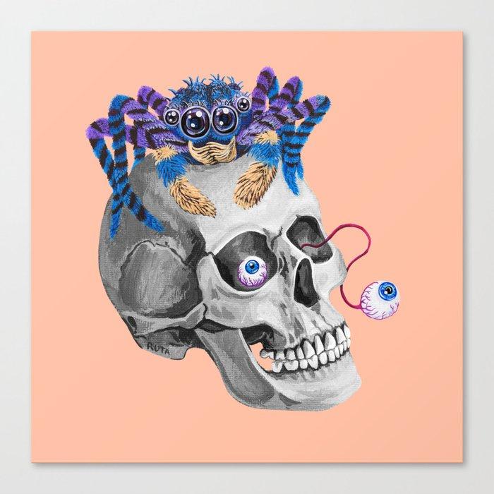 Skull Spider Canvas Print