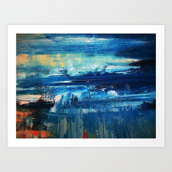 Sky and Sea Reflection Abstract Art Print