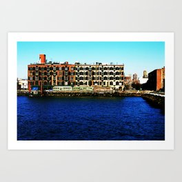 NYC Waterfront Property Art Print