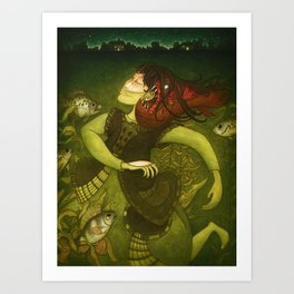 Deep-sea fish Art Print