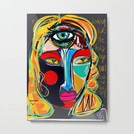 Looking for the third eye street art graffiti Metal Print