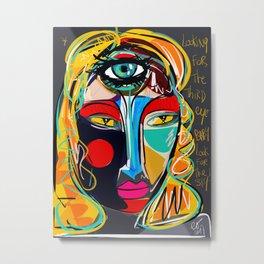 Looking for the third eye street art graffiti Metal Print