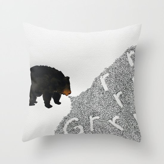Grrrrrr... Throw Pillow