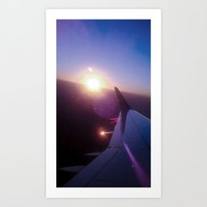 Fly, fly looking at the sun. Art Print