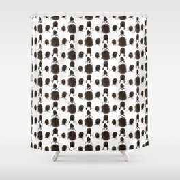 Messy dry curly hair pattern Shower Curtain