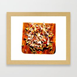 Flowers on a table 2 Framed Art Print
