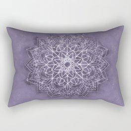 Vintage Lavender Watercolor Mandala Rectangular Pillow