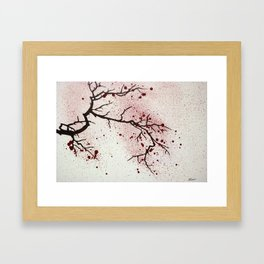 Cherry Branch Framed Art Print